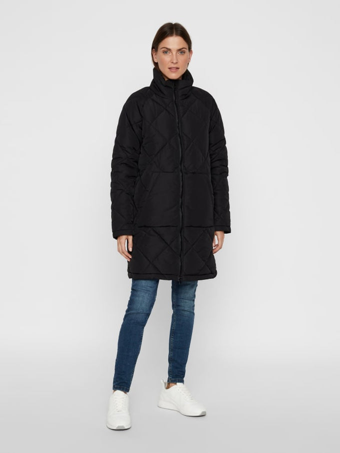 Quilted Puffer Coat BLACK