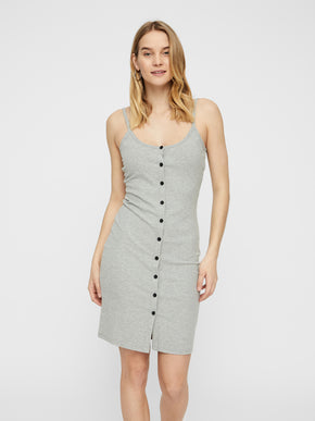 619accc1e26b RIBBED BODYCON DRESS WITH A BUTTON CLOSURE