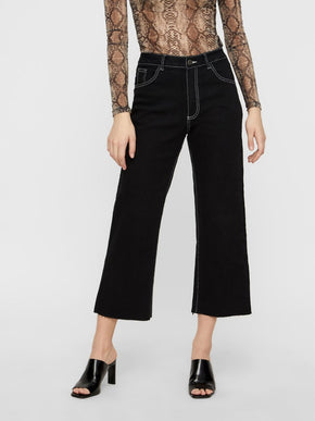 NMMARTHIE WIDE LEG CROPPED JEANS