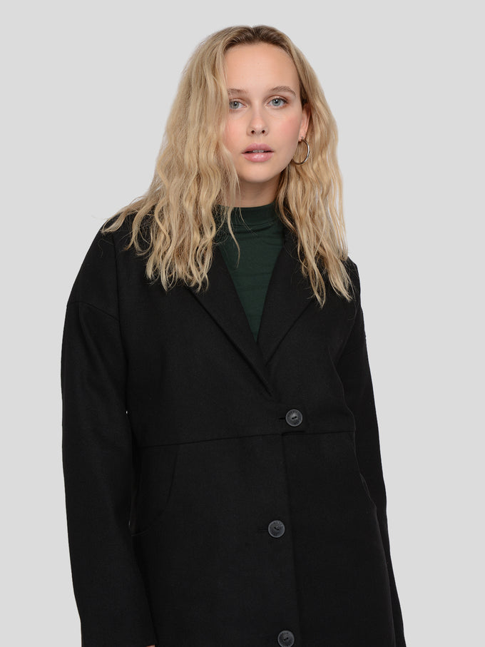 Oversized Wool Coat BLACK