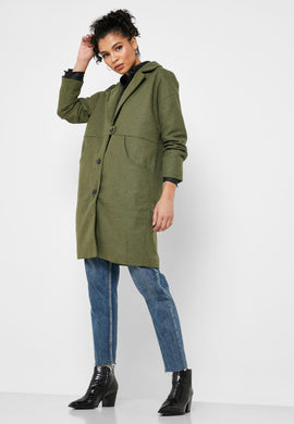 Manteau ample en laine