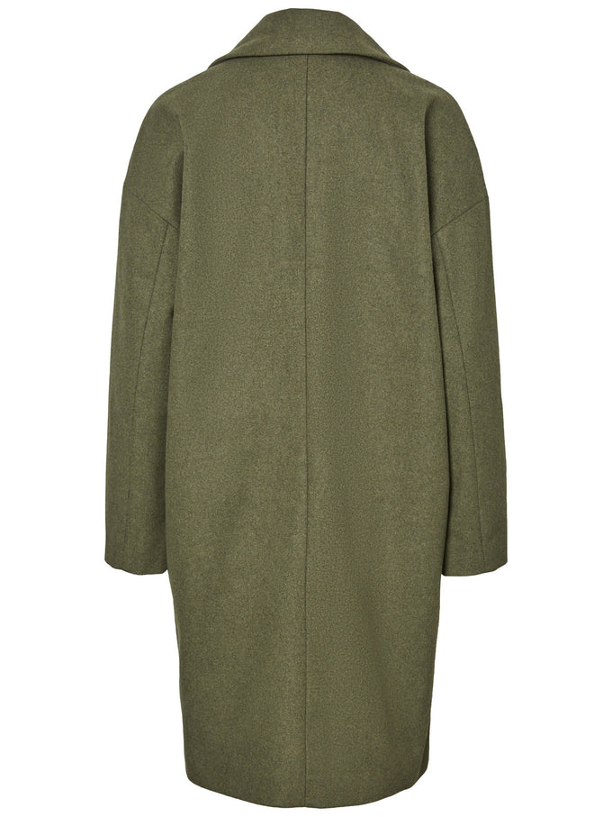 Oversized Wool Coat WINTER MOSS