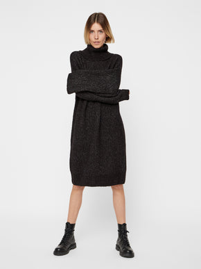 Oversized Turtleneck Sweater Dress