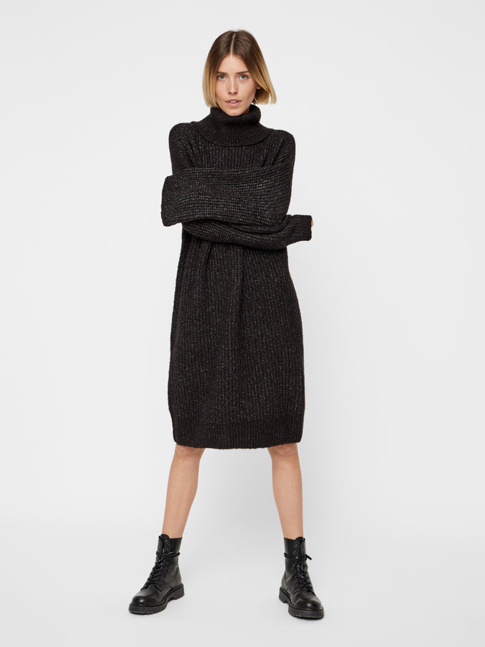OVERSIZED SWEATER-DRESS DARK GREY MELANGE