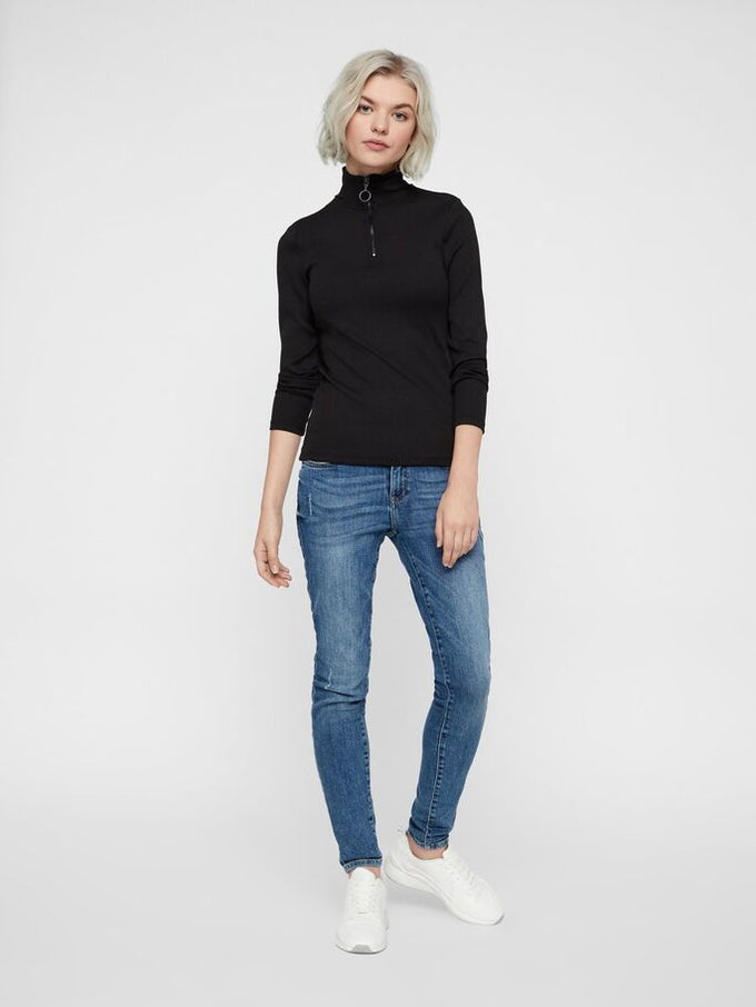 HIGH NECK TOP BLACK