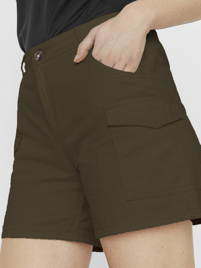 LONG LOUISE SHORTS OLIVE NIGHT