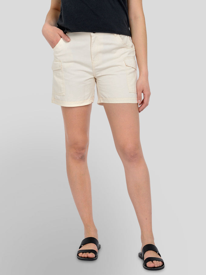 LONG LOUISE SHORTS ECRU