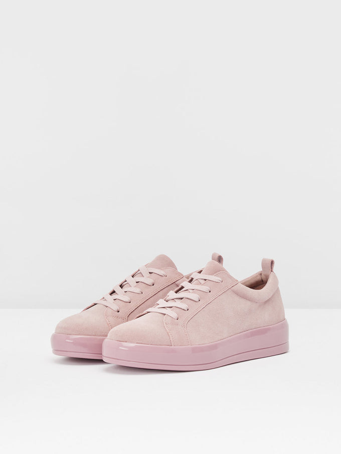 COLOURFUL SUEDE SNEAKERS LIGHT PINK