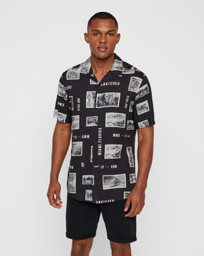 FINAL SALE - OLIVER PRINTED SHORT SLEEVE SHIRT