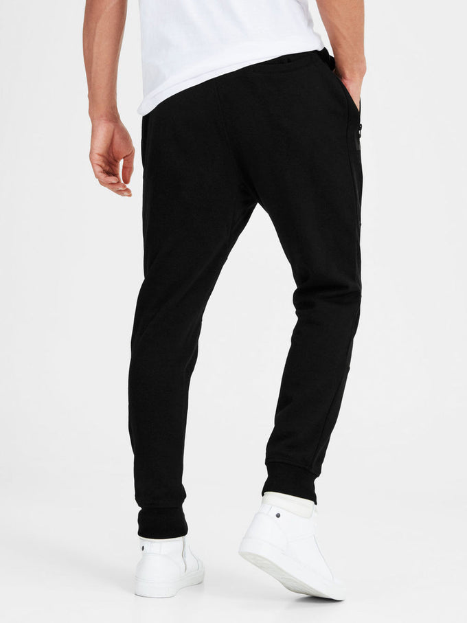 TAPERED FIT SWEATPANTS BLACK