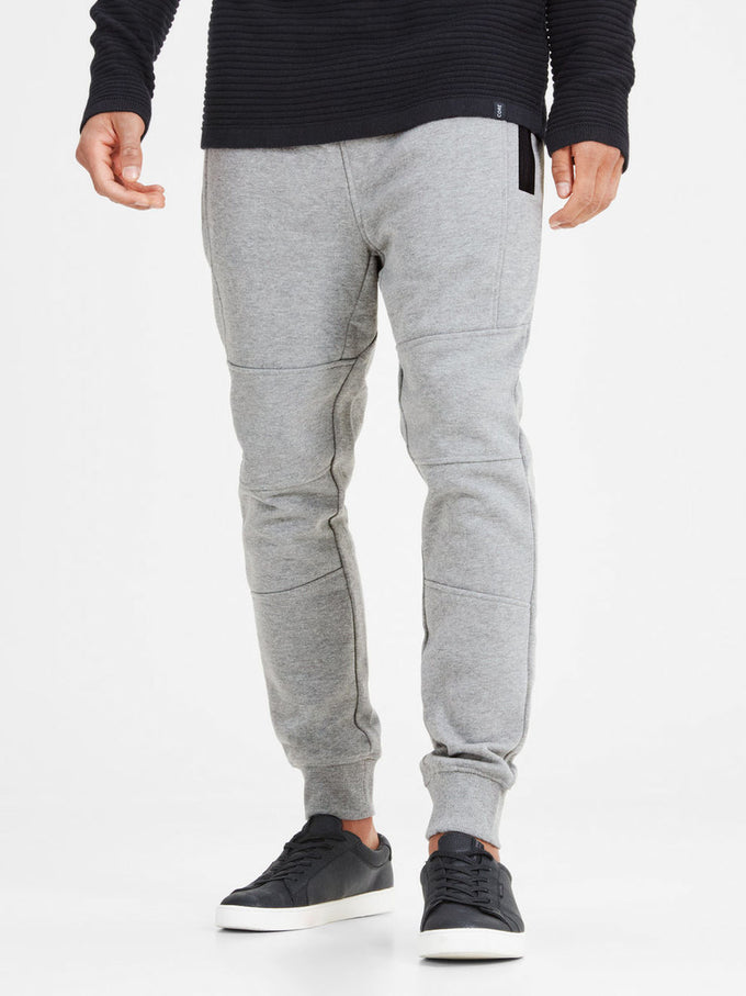 TAPERED FIT SWEATPANTS LIGHT GREY MELANGE