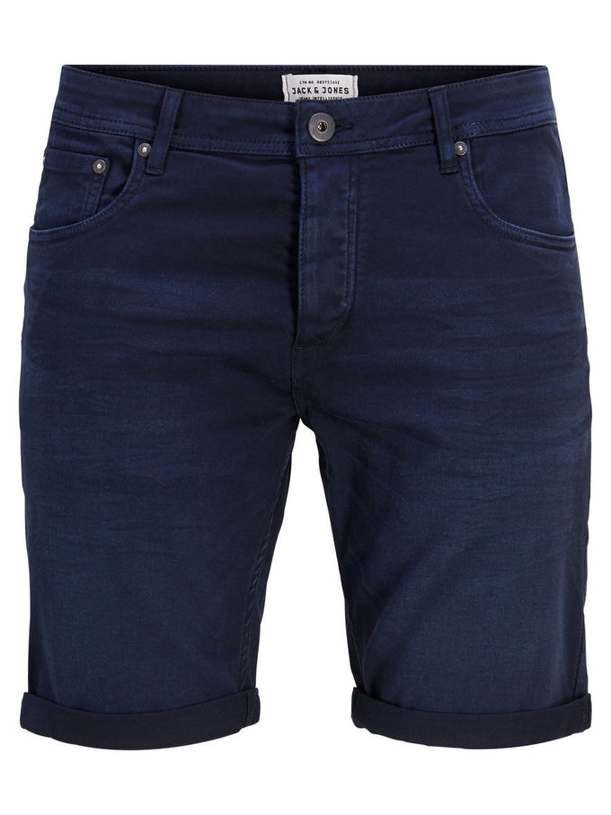 SHORT EN DENIM EXTENSIBLE RICK DASH 297 BLEU MARIN