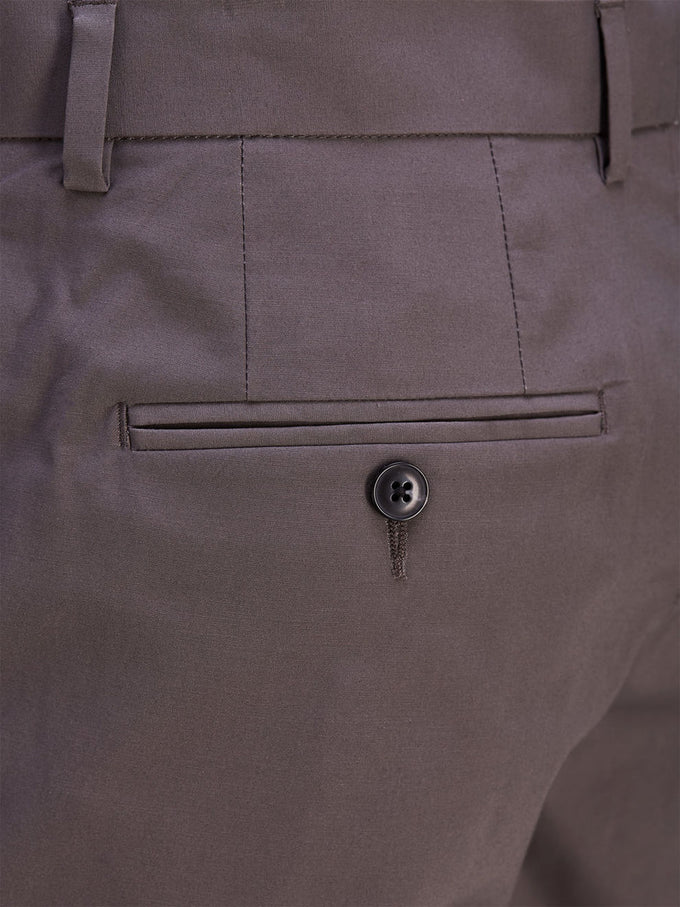 POLYESTER DRESS SHORTS DARK GREY
