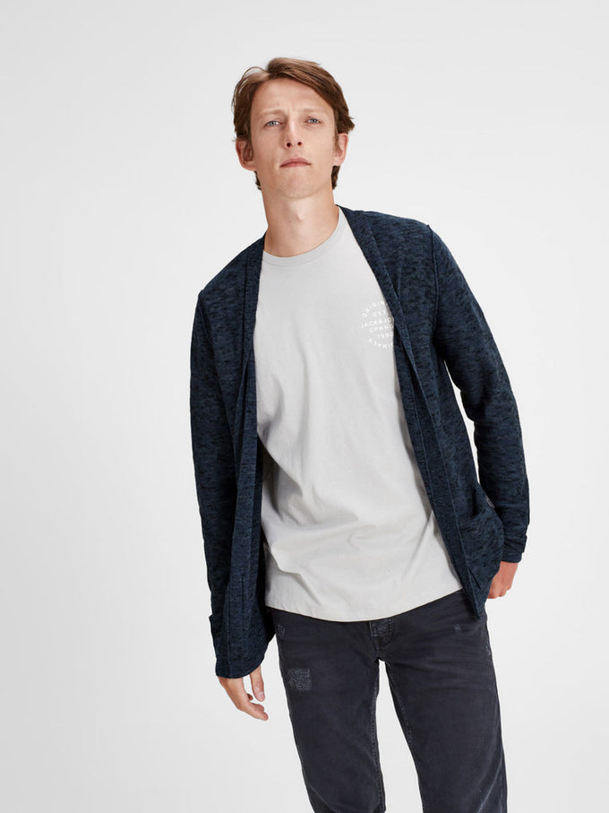 CARDIGAN OUVERT EN TRICOT CHINÉ ECLIPSE TOTALE