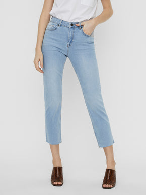JENNA MID WAIST STRAIGHT FIT ANKLE JEANS