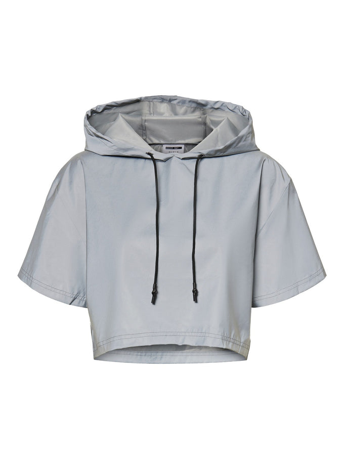 Randy reflective hoodie SILVER