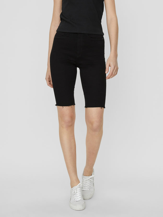 CALLIE HIGH WAIST SHORTS BLACK