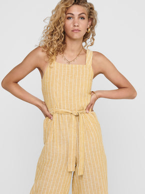 Canyon belted striped jumpsuit