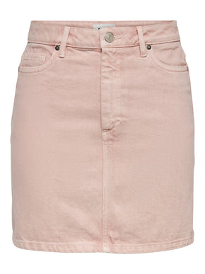 Rose mini denim skirt