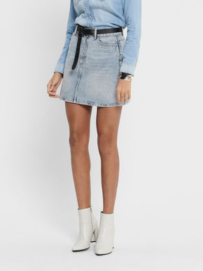 ROSE A-SHAPE DENIM SKIRT