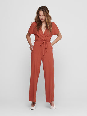 Simone belted wrap jumpsuit