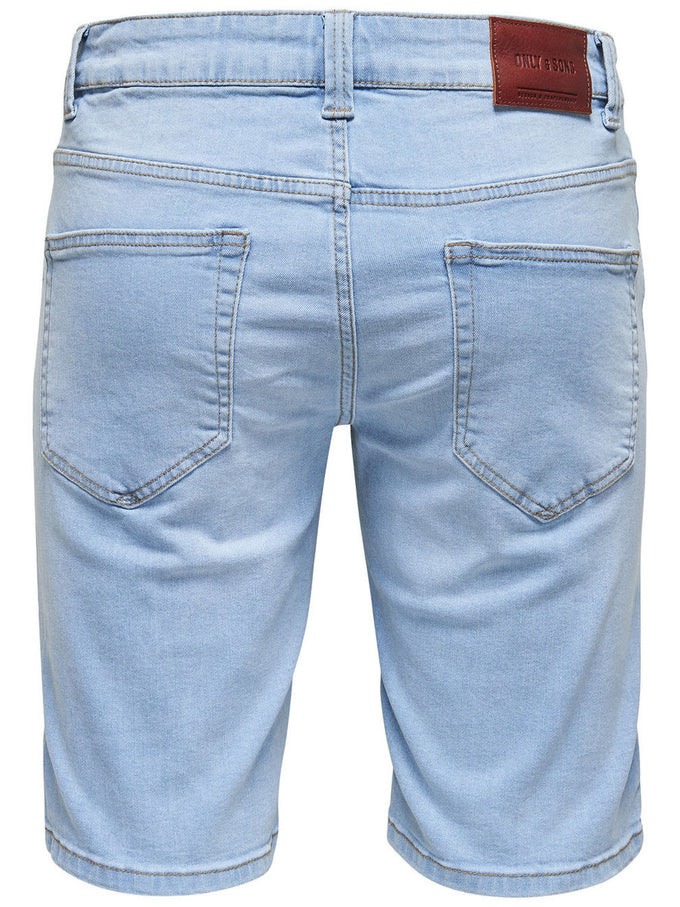 SHORT EN DENIM ONLY & SONS À COUPE AJUSTÉE BLEU PÂLE DENIM