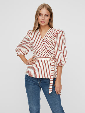 Olympia wrap blouse