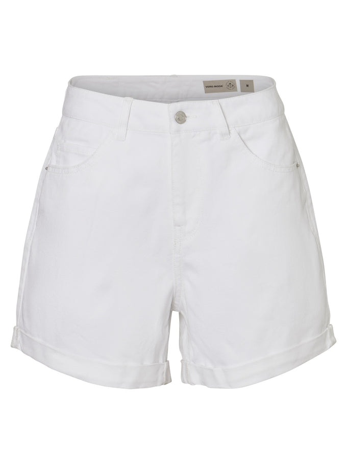 NINETEEN DENIM MOM SHORTS BRIGHT WHITE