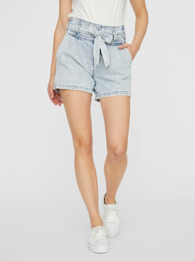 KATIE DENIM SHORTS LIGHT BLUE DENIM