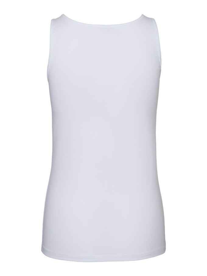 High back tank top BRIGHT WHITE
