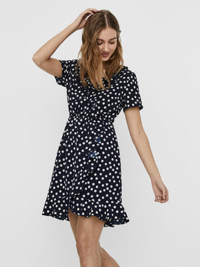 Olivia frill wrap dress