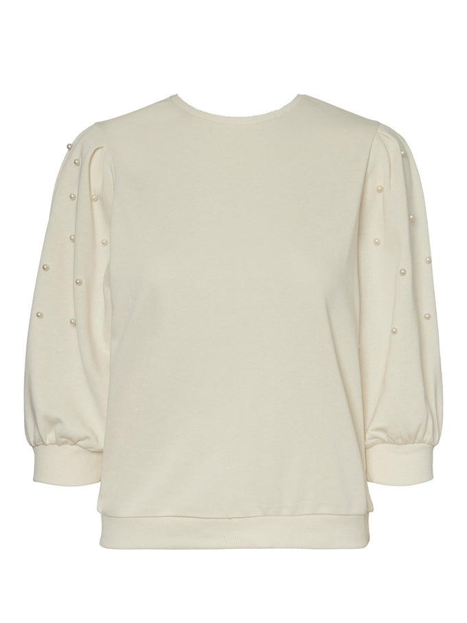 Beckie sweatshirt with pearls BIRCH