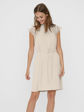 Povla lace insert dress