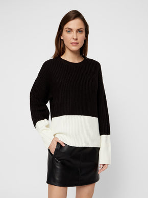GLENDORA COLOUR BLOCK KNIT SWEATER