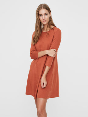 Felicity 3/4 sleeves flare dress