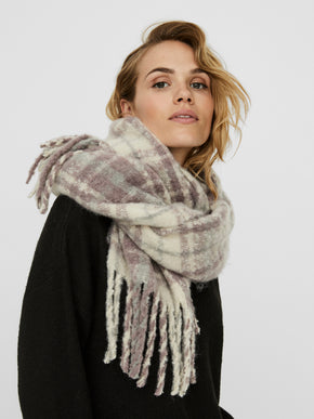 Karly brushed plaid scarf
