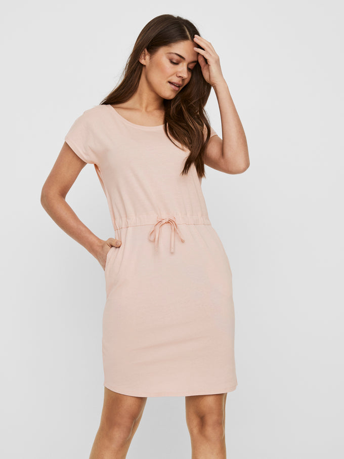 April short sleeves dress SEPIA ROSE