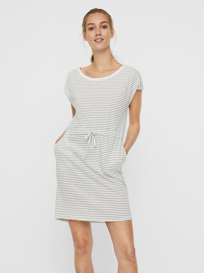 April short sleeves dress SNOW WHITE STRIPES