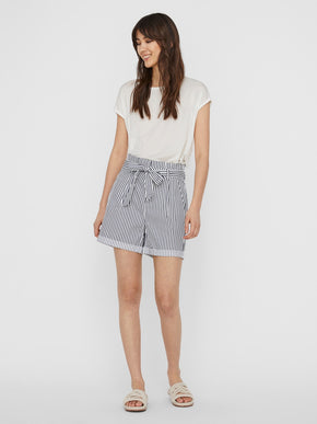 EVA high waist paperbag shorts