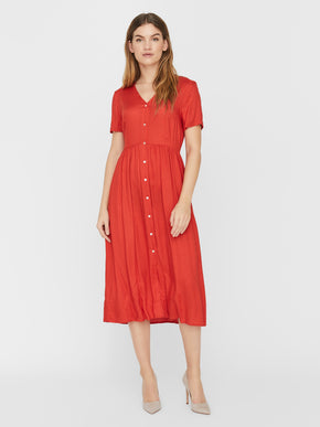 Oma short sleeves midi dress