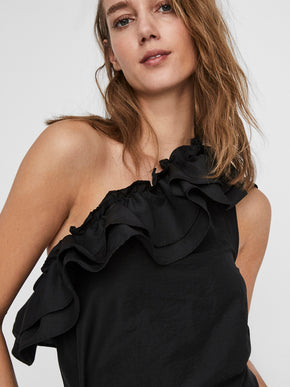 Lucinda one shoulder ruffle top