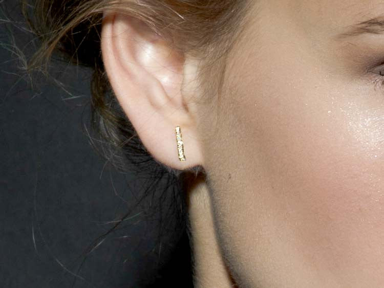 About Gold Staple Stud Earrings