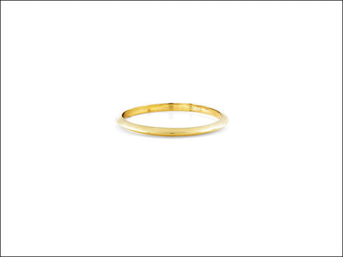 Image of Knife Edge Gold Band Ring