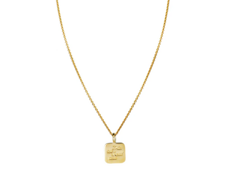 this too shall pass gold necklace