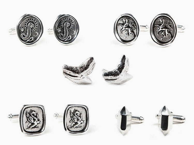 Image of Silver Cufflinks by Phoenix Roze
