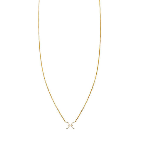 Image of Pisces Diamond Zodiac Necklace