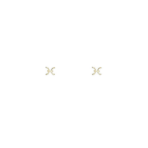 Image of Pisces Gold Earrings