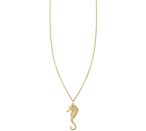 seahorse gold charm necklace