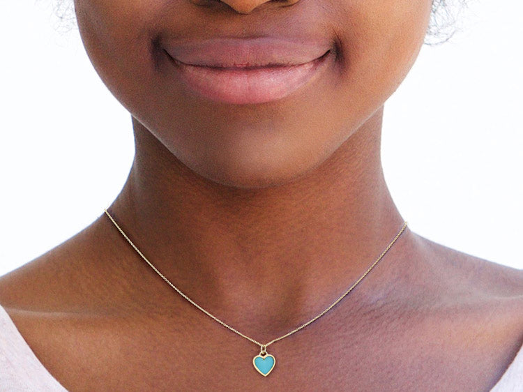 Image of Turquoise Necklace on Woman's Neck