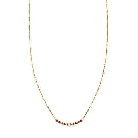 Image of a 10 Round Ruby Arch Necklace